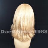 Peluca europea del pelo de la mujer de los productos de pelo de Remy de la Virgen