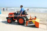 Pulitore della spiaggia montato mini trattore