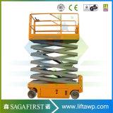 8m au petit levage mobile électrique hydraulique Selfdriven des ciseaux 10m