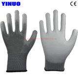 Серый провод фиолетового цвета для рук с покрытием полиэстер с другой стороны оболочки защитные рабочие перчатки