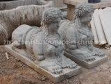 Het marmeren Beeldhouwwerk van het Standbeeld van Sfinx, het Standbeeld van de Mythe