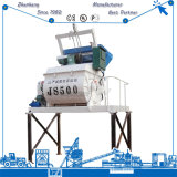 Uno mismo Js500 que carga el mezclador concreto con la elevación