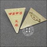 Förderung-Gold überzogenes Abzeichen, quadratischer ReversPin (GZHY-CY-020)