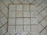 Granito beige arrugginito di colore giallo G682 che pavimenta la pietra del cubo