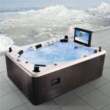 Monalisaの屋外の贅沢なTV (M-3342)が付いているグループによって使用される鉱泉の温水浴槽