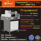 80mm épaisseur 490mm 460mm taille A3 A4 pousser le papier automatique programmé coupeuse en long de la machine de refendage