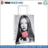 Bolso de compras de papel modificado para requisitos particulares muchacha de la manera