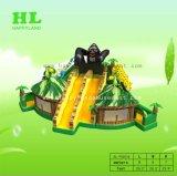 De kleurrijke Dierlijke Speelplaats van de Uitsmijter van het Landbouwbedrijf Opblaasbare