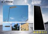 Luz de rua solar completa do diodo emissor de luz do módulo solar com bateria de lítio