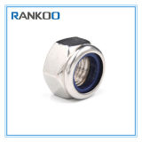 Acier inoxydable 304 18-8 noix verrouillées de nylon Hex avec la boucle en caoutchouc bleue DIN 985