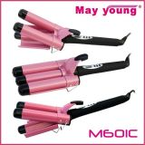 M601A следует использовать c есть функция таймера Professional тройной щипцы для завивки волос цилиндра экструдера