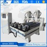 4スピンドル木工業の切断の彫版CNCの機械化