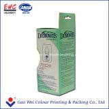 Caixa de papel pequena personalizada de frasco de leite com indicador