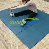 Mattonelle di gomma elastiche di collegamento della plaza di forma fisica variopinta di ginnastica, pavimentazione di gomma esterna antiscorrimento, pavimento di gomma ecologico di asilo