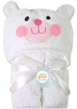 耳を搭載するより大きいサイズの100%年の綿の赤ん坊のフード付きタオル