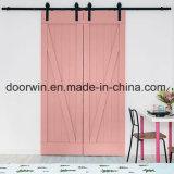 공장 가격 Room 실내 장식적인 미닫이 문 분홍색 현대 공주 또는 부엌 문