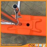 Temporal de cerco de malla de alambre soldado con pies de plástico