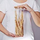 タケふたが付いているカスタマイズされたガラスビンの食糧記憶のガラス瓶