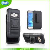 Étui Heavy Duty Clip en plastique cellule cas Combo pour Samsung J120