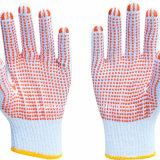 Промышленные рабочие хлопка ПВХ пунктирной Kintted перчатки