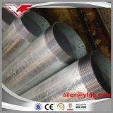 """2 """" hanno filettato il TUFFO caldo galvanizzato intorno al tubo d'acciaio della sezione vuota con gli zoccoli"""