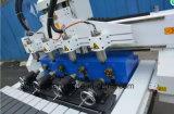 1325 máquina de madeira do router do CNC de 3 linhas centrais, máquina de estaca da madeira do CNC 1325 para a porta de gabinete da cozinha