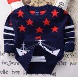 T1202 2015 Outono estilo coreano Pulôver Suéter Kids Desgaste Double-Layer puro algodão meninos Bebé Camisola de malha vestuário de crianças para o comércio por grosso