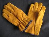 Работа Glove-9210 выровнянного водителя кучи Split кожи коровы акриловая