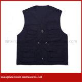 Rivestimento Sleeveless del cotone del commercio all'ingrosso della fabbrica di Guangzhou del poliestere della maglia di riserva poco costosa di funzionamento (W94)