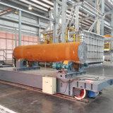 Kabel-Bandspule-gebetriebene Hochleistungsschienen-flache Laufkatze für Schwerindustrie