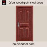 チークのSapeleのカシの黒いクルミのベニヤの鋼鉄ドア
