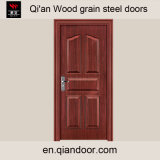 Porte coupe-feu en acier à grain du bois