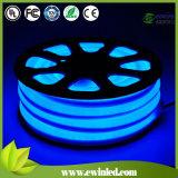 백색 반점 없는 12V/24V/120V/230V 유연한 소형 LED 네온 밧줄
