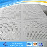 PVCによって薄板にされるギプスの天井のタイル600*600*9mm/PVCの穴があいたギプスの天井のタイル