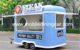 Rue frite faisant cuire le chariot mobile/remorque d'aliments de préparation rapide