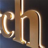 Signe éclairé à contre-jour par DEL de système de lettre de la Manche en métal de signe de la coutume 3D