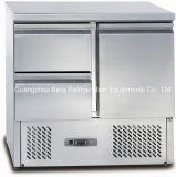 нержавеющая сталь салат дисплей счетчика холодильник