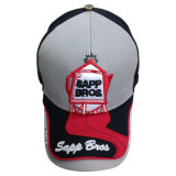 Construido promocional gorra de béisbol con grandes bordados
