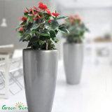 Potes de flor de fibra de vidro coloridos baratos