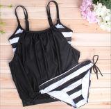 Большой плюс размер линии бикини купальный костюм две секси купальник пляжную