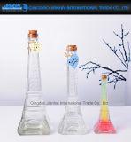 Neuer Entwurfglasquicksand-Flasche mit Korken für Geschenk