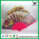 Plástico tradicional colorido chinês ventilador de dobramento personalizado