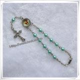 Rosario d'imitazione di vetro poco costoso all'ingrosso di decade del branello delle perle (IO-CE044)