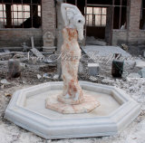 Multi fontana di colore della scultura domestica della decorazione con la statua
