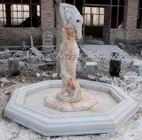 Hauptdekoration-Skulptur-multi Farben-Brunnen mit Statue