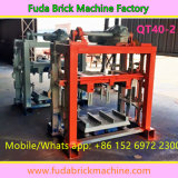 Halb Automatic Cement Interlocking Block Pavement Brick Machine mit Mixer