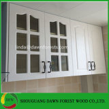 新しいシンプルな設計の木のグラス飾り棚のドア
