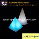 Moderne Farbe-Ändernde Tisch-Lampe des Dekor-Pyramide-Licht-LED