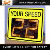Signo de la velocidad del radar para la Seguridad Vial