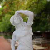 Signora di quattro stagioni intagliata mano della statua di marmo per la decorazione